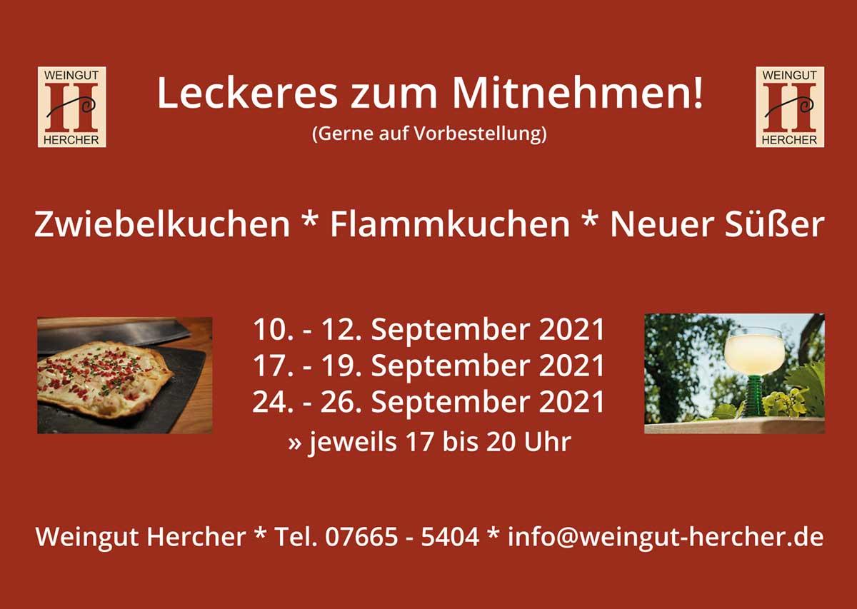Zwiebelkuchen zur Abholung bei Weingut Hercher in Waltershofen